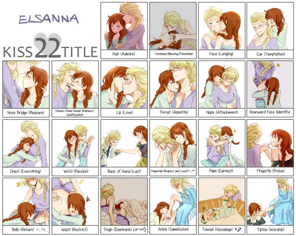 Pairing: Elsa x Anna (Frozen). Artist: Nanami.
